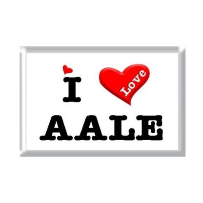 I Love AALE rectangular refrigerator magnet