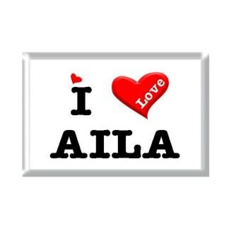 I Love AILA rectangular refrigerator magnet