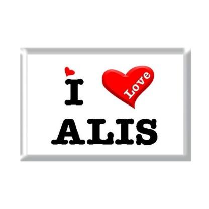 I Love ALIS rectangular refrigerator magnet
