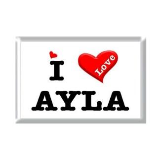 I Love AYLA rectangular refrigerator magnet