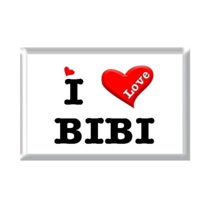 I Love BIBI rectangular refrigerator magnet