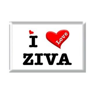 I Love ZIVA rectangular refrigerator magnet