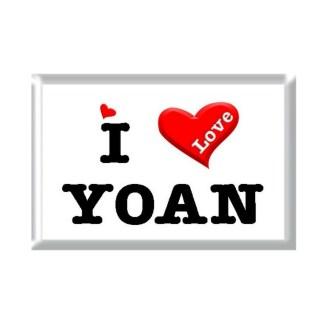 I Love YOAN rectangular refrigerator magnet