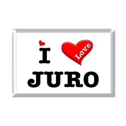 I Love JURO rectangular refrigerator magnet