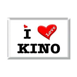 I Love KINO rectangular refrigerator magnet
