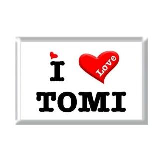 I Love TOMI rectangular refrigerator magnet