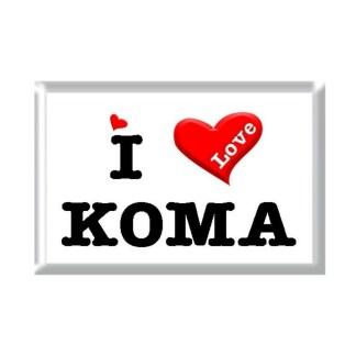 I Love KOMA rectangular refrigerator magnet