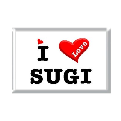 I Love SUGI rectangular refrigerator magnet