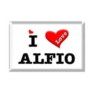 I Love ALFIO rectangular refrigerator magnet