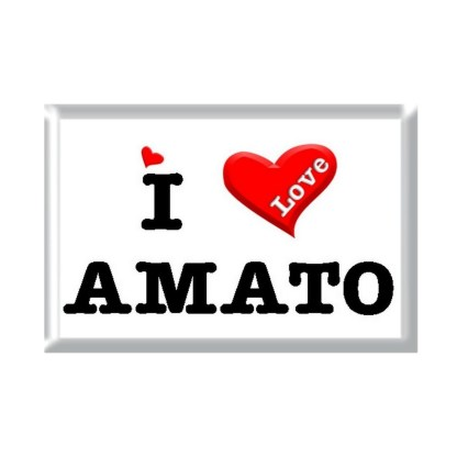 I Love AMATO rectangular refrigerator magnet