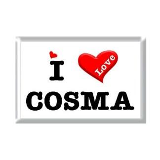 I Love COSMA rectangular refrigerator magnet