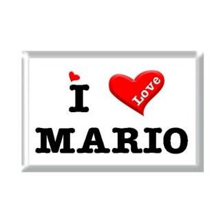I Love MARIO rectangular refrigerator magnet