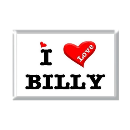 I Love BILLY rectangular refrigerator magnet