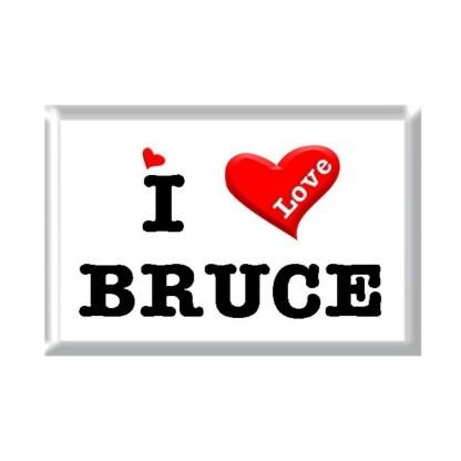 I Love BRUCE rectangular refrigerator magnet