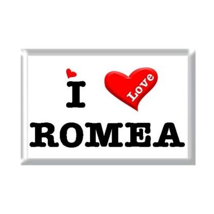I Love ROMEA rectangular refrigerator magnet