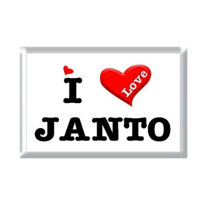 I Love JANTO rectangular refrigerator magnet