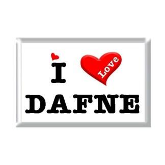 I Love DAFNE rectangular refrigerator magnet