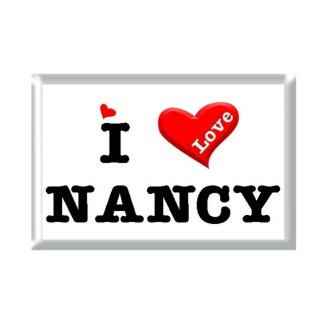 I Love NANCY rectangular refrigerator magnet