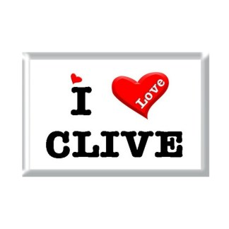 I Love CLIVE rectangular refrigerator magnet