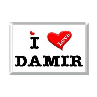 I Love DAMIR rectangular refrigerator magnet