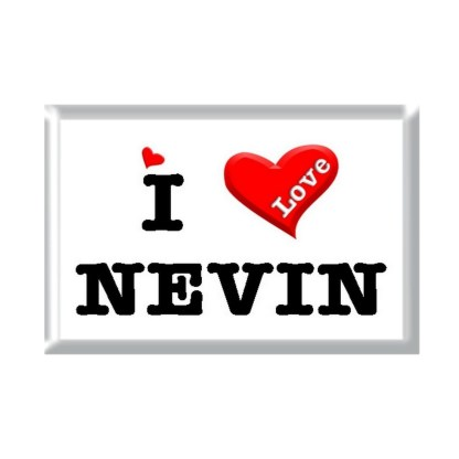 I Love NEVIN rectangular refrigerator magnet