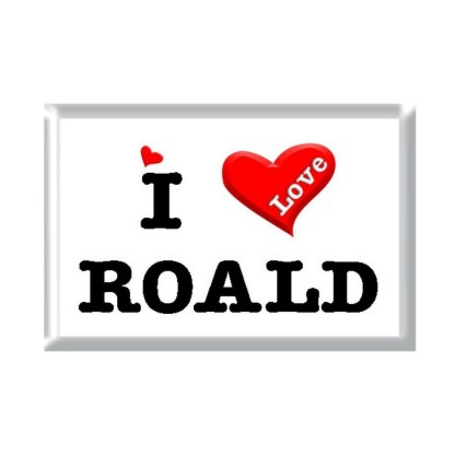 I Love ROALD rectangular refrigerator magnet