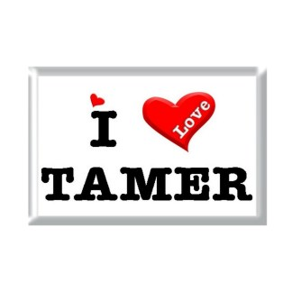 I Love TAMER rectangular refrigerator magnet