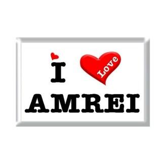I Love AMREI rectangular refrigerator magnet