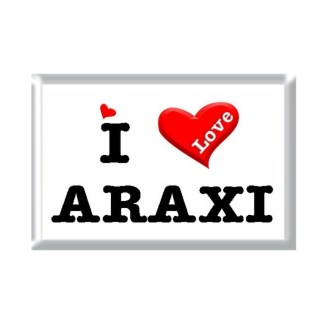 I Love ARAXI rectangular refrigerator magnet