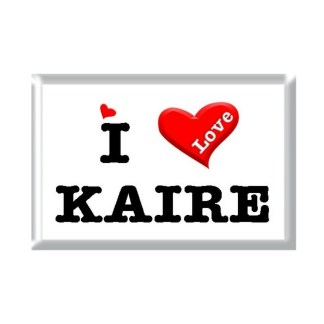 I Love KAIRE rectangular refrigerator magnet