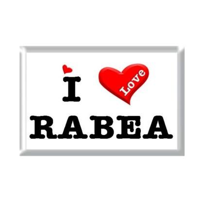 I Love RABEA rectangular refrigerator magnet