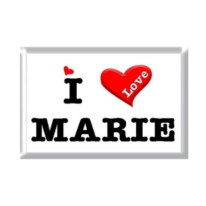 I Love MARIE rectangular refrigerator magnet