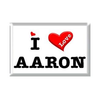I Love AARON rectangular refrigerator magnet