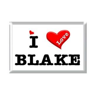 I Love BLAKE rectangular refrigerator magnet