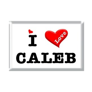I Love CALEB rectangular refrigerator magnet