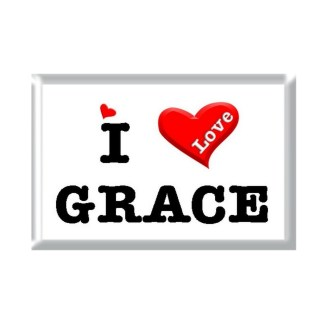 I Love GRACE rectangular refrigerator magnet