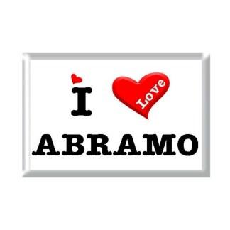 I Love ABRAMO rectangular refrigerator magnet