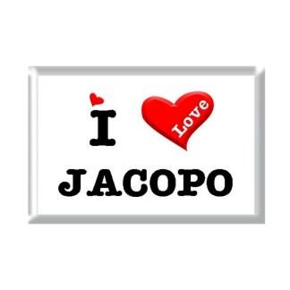I Love JACOPO rectangular refrigerator magnet