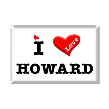 I Love HOWARD rectangular refrigerator magnet