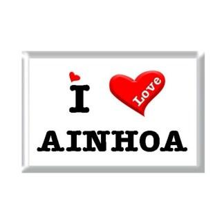 I Love AINHOA rectangular refrigerator magnet