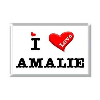 I Love AMALIE rectangular refrigerator magnet