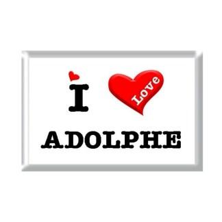 I Love ADOLPHE rectangular refrigerator magnet