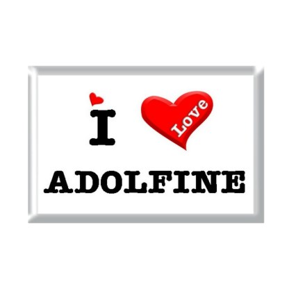I Love ADOLFINE rectangular refrigerator magnet
