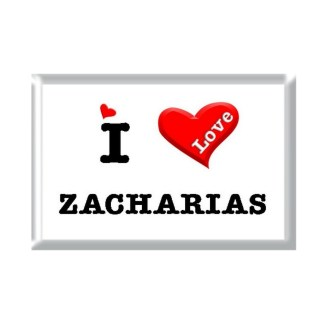 I Love ZACHARIAS rectangular refrigerator magnet