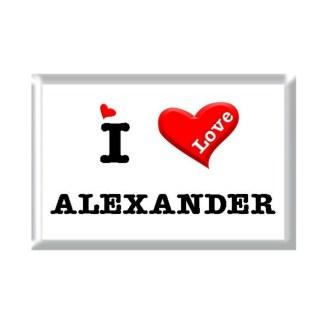 I Love ALEXANDER rectangular refrigerator magnet