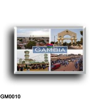 GM0010 Africa - The Gambia - The Arch - Serekunda Market - Bundung Mosque in Serekunda Panorama