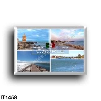 IT - Veneto - Caorle - Passeggiata a mare - Scogli - Vista Mare - Molo - rectangular refrigerator magnet