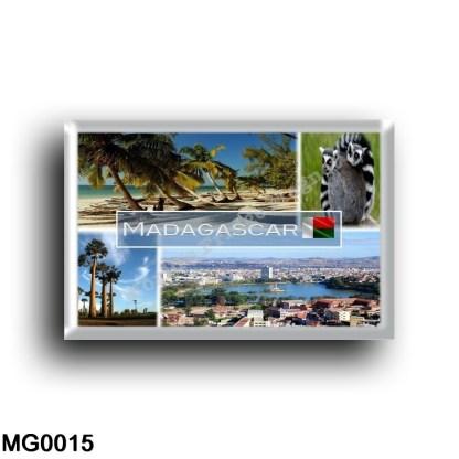 MG0015 Africa - Madagascar - Beach - Indian Ocean - Ring Tailed Lemur - Baobad trees desert and spiny forest - Central Antananar
