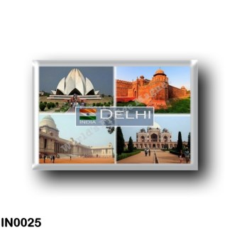IN0025 Asia - India - Delhi India - Indian President House - Lotus Temple Daytime - Red Ford - Tomb of Humayun