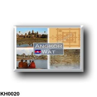 KH0020 Asia - Cambodia - Angkor Wat - Vishnu - Three ruined towers - Detail Plan - Towers
